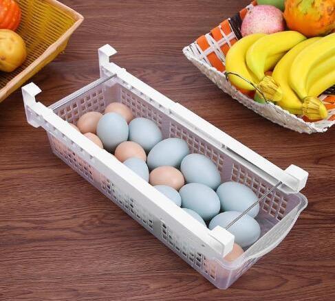 Free shipping New Fridge Mate Refrigerator Pull Out Bin Home Organizer Drawer Space Saving Organizer Egg Storage Box