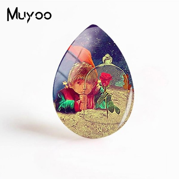 2019 New The Little Prince With Fox Jewelry Art Photo Tear Drop Glass Cabochon Hand Craft Cabochons Gifts Women