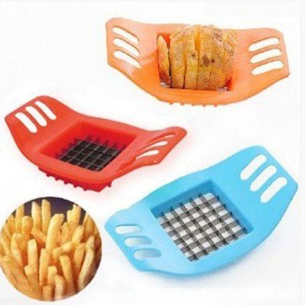 Картофельные Slicer Cutter из нержавеющей стали для резки овощей Chips приборостроение картофеля Нарезка Fries инструмент Кухонные аксессуары