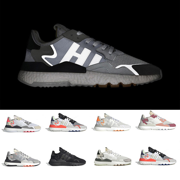 Core Black nite jogger 3M reflective night running shoes for men women top quality triple white breathable trainer sports sneakers 36-45