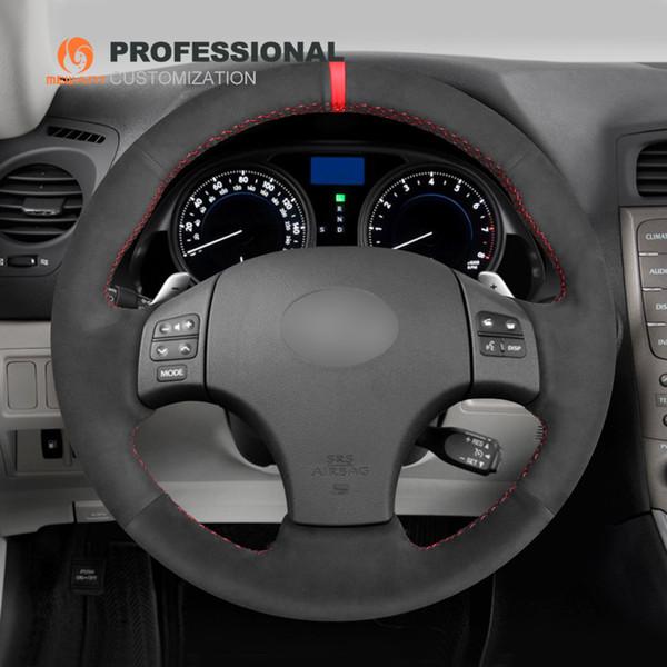 MEWANT Black Suede Hand Sew Car Steering Wheel Cover for Lexus IS IS250 IS250C IS300 IS300C IS350 IS350C F SPORT 2005-2011