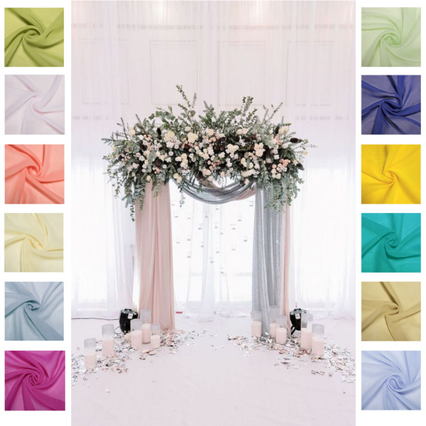 55*235 inches Home Table Cloths Chiffon Table Runner for Wedding Free Shipping Cheap Long Chair Covers Fabric For Home Garden