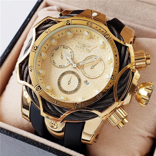 Luminou invicta port quartz men 039 watch dz7333 wire 52mm large calendar dial pu belt de igner watche