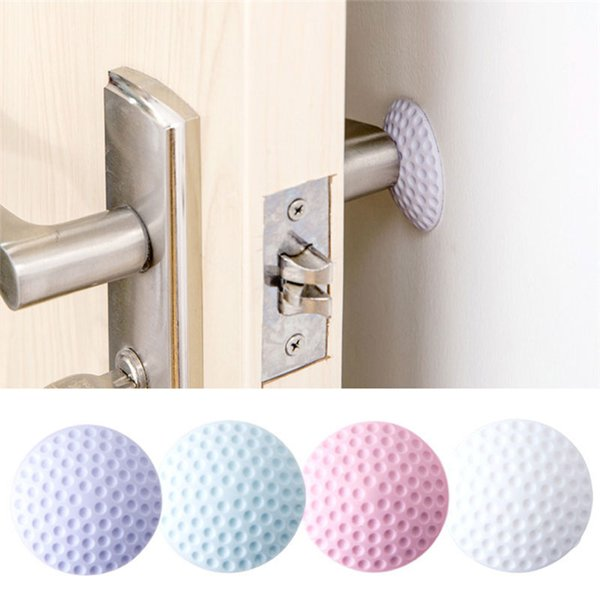 1pc Rear Wall Thickened Mute Wall Sticker Rubber Fender Handle Door Lock Pad Protect The Stick On The