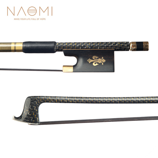 NAOMI 4/4 Violin Bow Carbon Fiber Bow For 4/4 Size Violin Black Horse Hair High Quality Violin Part & Accessories