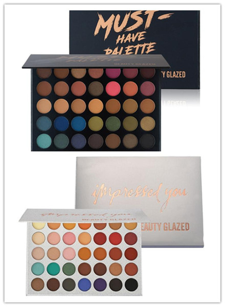 beauty glazed must have/impressed you 35colors eye shadow palette natural shimmer matte pressed powder makeup eyeshadow palette