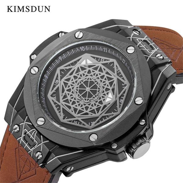 Reloj de hombre Reloj de cuero automático de moda para hombres Relojes mecánicos para hombre Reloj deportivo a prueba de agua Relojes KIMSDUN