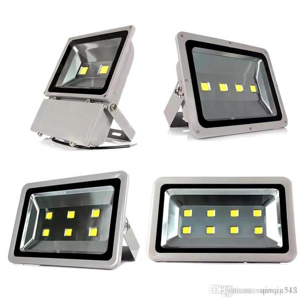 Projecteur LED extérieur projet DHL IP65 étanche 100W 200W 300W 400W lampe LED COB éclairage Projecteurs 85-265V super lumières crues vives