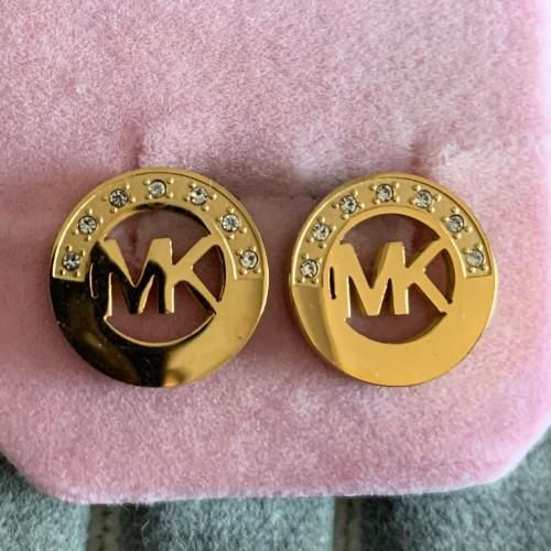 Non svanire mai fabbrica all'ingrosso famoso marchio di acciaio al titanio diamante lettera orecchini orecchini deluxe donne fascino amore orecchini gioielli di moda