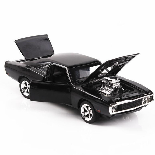 1/32 Diecasts & Toy Vehicles The Fast And The Furious Dodge Car Model With Sound&light Collection Car Toys For Boy Children Gift J190525