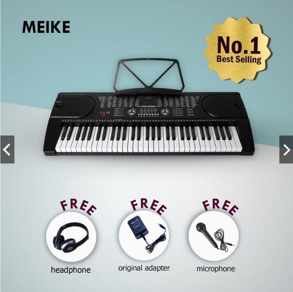 MK-2089 Ensemble de 61 claviers électroniques pour piano numérique avec instruments de musique pour débutant ou professeur de bébé