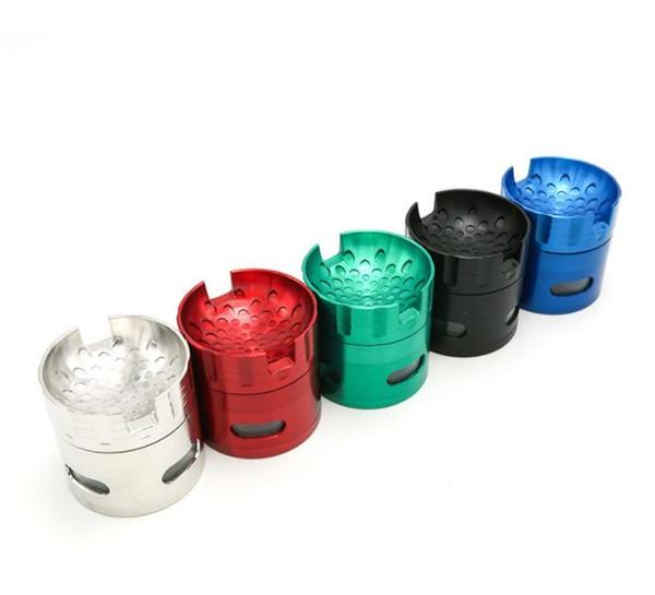 Zinc Alloy Four-Layer Smoke Grinder 63 mm Metal Acrylic Splicing Fashion Smoke Grinder Wholesale