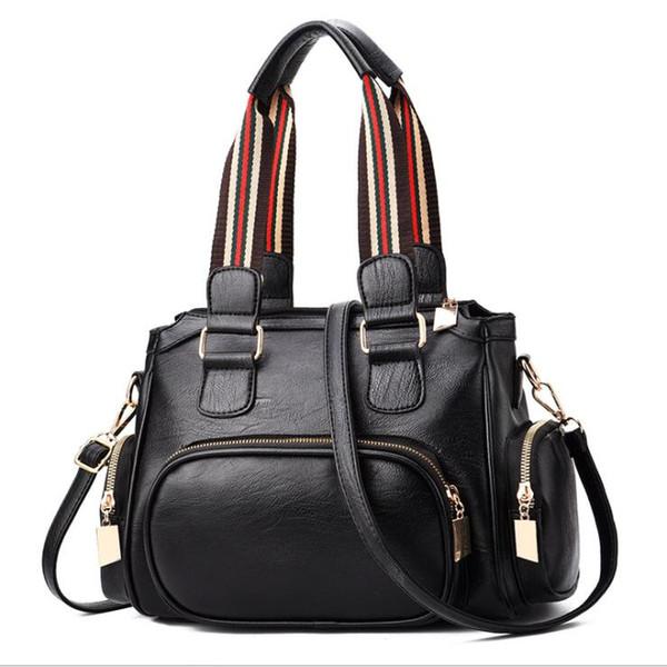 Casual Handbags For Women Large Designer Ladies Shoulder Bag Tote Purse Fashion Brand PU Leather Big Capacity Top-Handle Bags