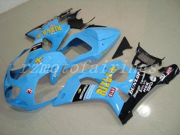 3Gifts New Motorcycles ABS Fairings Kit Fit For Suzuki GSXR1000 K2 2000 2001 2002 GSX-R1000 1000cc 00 01 02 bodywork set custom blue RIZLA+