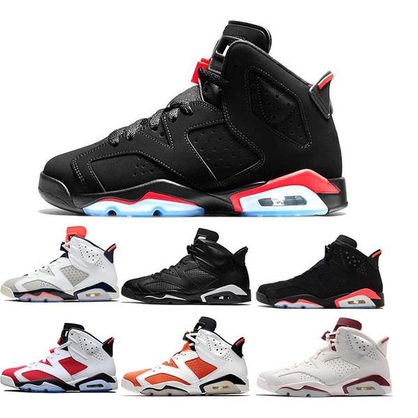 Nuevo Bred 6 6s Zapatillas de baloncesto Tinker UNC Black Cat White Infrared Red Carmine Toro Mens Designer Trainer Sport Sneaker Size US 7-13