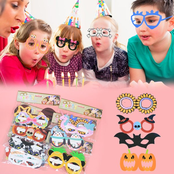 6pcs Photo Booth Props Childrens Day Photobooth props baby birthday shower Party Decoration photo booth for kids funny mask