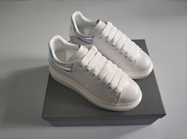 Personalità e moda Donna di lusso uomo bianco designer asso scarpe in vera pelle di mucca superstar stivali dress box formato di qualità migliore 35-46