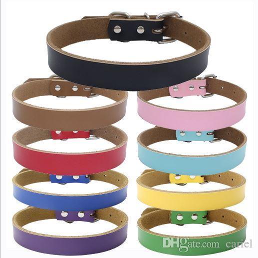 Cariel Hot vendita accessori per cani in pelle pelle bovina reale Collari 2 colori 4 formati wn496B