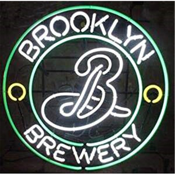 New Star Neon Sign Factory 16X16 Inches Real Glass Neon Sign Light for Beer Bar Pub Garage Room Brooklyn Brewery.