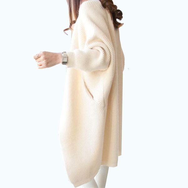 2019 Женщины Длинных кардиганов Осень Зима стежка пончо Вязание свитер Женщина по размерной шали мыс куртки пальто Тренч PARKAS T190922