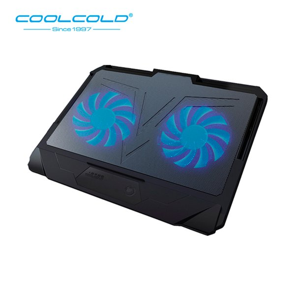 COOLCOLD Laptop Cooling Pad Base Notebook Cooler Two Led Fan Seven Angles Adjustment For 12'' 15.6'' 17'' Laptop USB Cooling Fan
