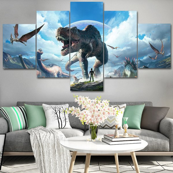 2019 Living Room Bedroom Decoration Painting Video Game Ark Era Five Canvas  Hanging Painting Oil Painting From Dh1760571262, $63.32 | DHgate.Com