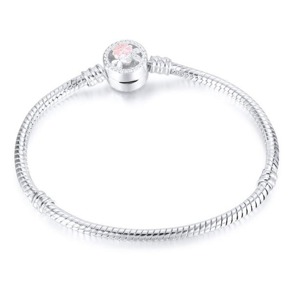 Neue Mode DIY Armband 3mm Schlange Knochen Kette Frauen Schmuck Armbänder Reines Kupfer Silber überzogene Kette 16 cm bis 21 cm