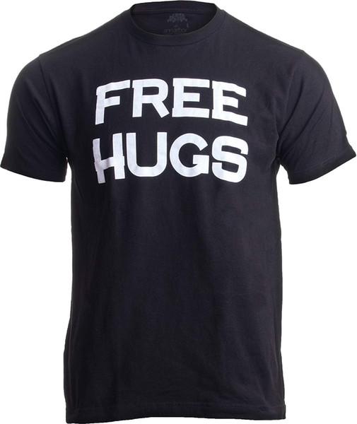 HUGS gratuit | T-shirt unisexe mignon, drôle et optimiste humaniste