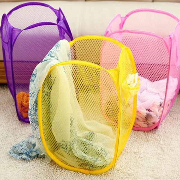 top popular oomall Mesh Waterproof Laundry Home Sundries Toys Storage Organizer Large Capacity Folding Cloth Dirty Clothes Basket Hoomall Mesh Water... 2019