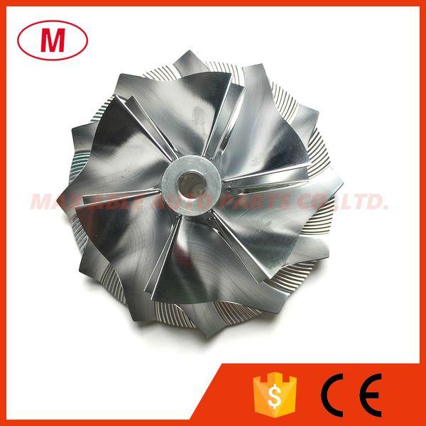 CT26 53.11 / 70.98mm 6 + 6 pale compressore turbo billet ad alte prestazioni / alluminio2618 / turbocompressore fresa ruota compressore per Toyota