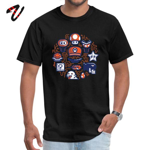 Şirket Mario Essentials Komik Kurt Cobain Kollu T-Shirt Yaz Güz O Boyun Güney Afrika Erkekler için Tees Tops Tees Tasarım