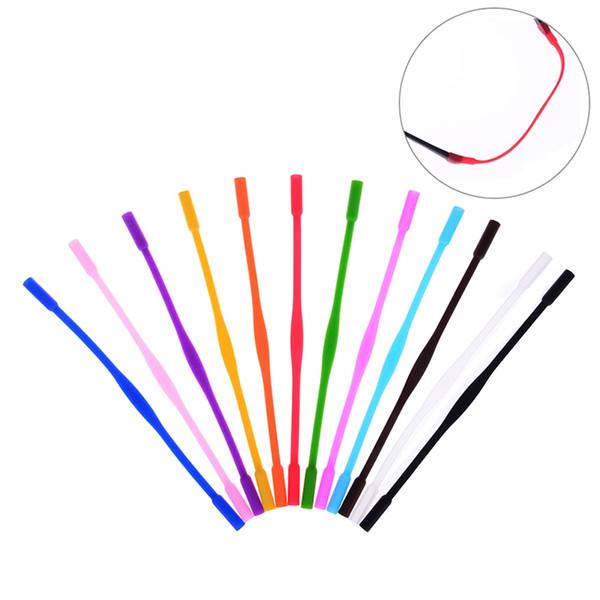20 cm Silicone Óculos Cords Óculos Strap Cord Pescoço Óculos Óculos De Sol Banda Corda Corda Titular Alta Elastic Anti Slip # 212295