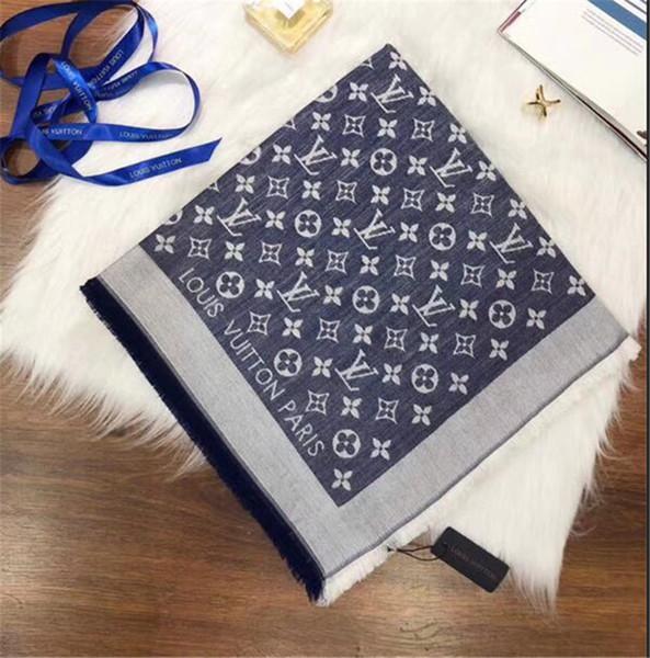 Classic female 140*140cm silk cotton scarf shawl soft comfortable fashion autumn and winter season scarf wholesale