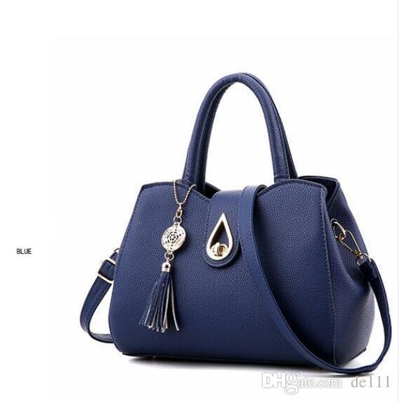 Drop shipping colors Top quality fashion famous brand women casual tote bag travel set PU leather handbags cheap wholesale Nice sew flower