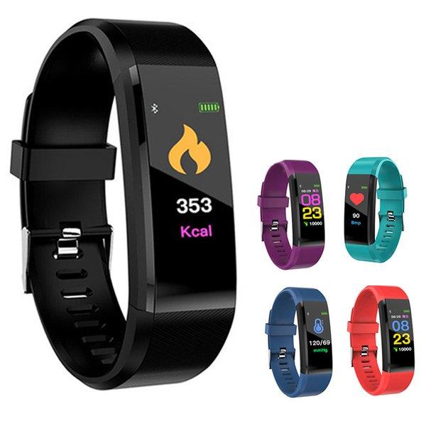 ID115 Плюс Смарт-Браслет Фитнес-Трекер Группа Монитор Сердечного ритма Артериального Давления Смарт-Браслет Для яблока Цвет для iPhone Android