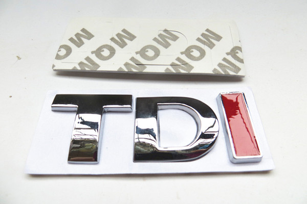 Zinc Alloy 3D TDI Badge Emblem Decal car Sticker for VW Golf JETTA PASSAT MK4 MK5 MK6 skoda seat car accessories car-styling