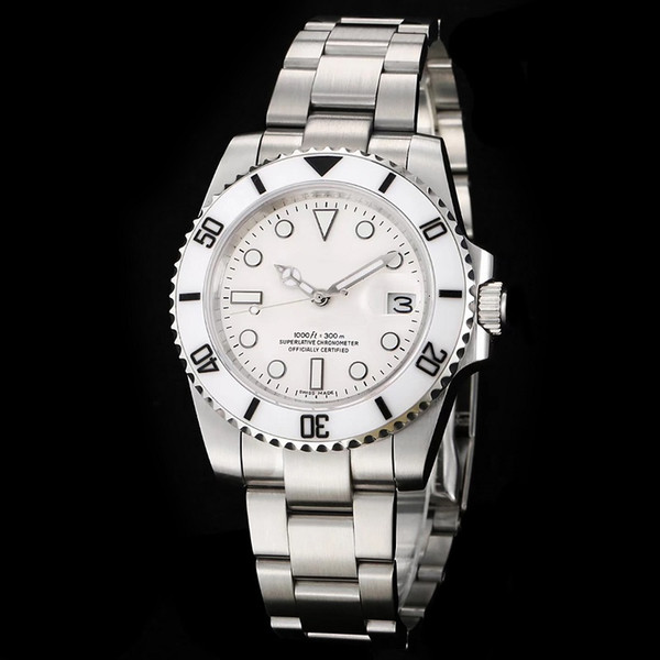 En Lüks Erkek Hareketi İzle 2813 Otomatik Mekanik 116610 Safir Cam Seramik Çerçeve Glidelock Erkek Saatı tasarımcı Saatler