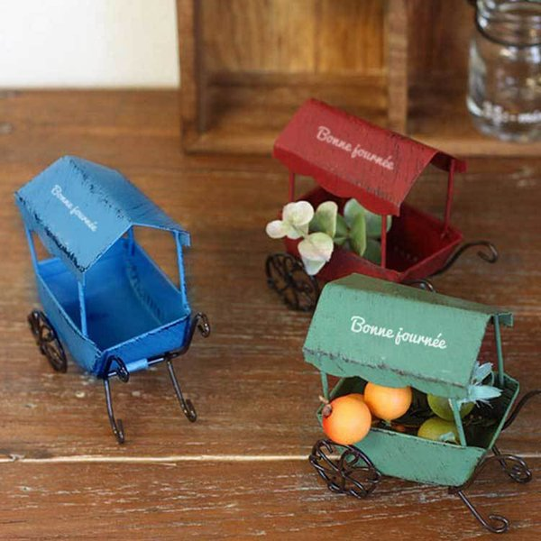 Metal crafts set up small garden potted plants take photos jewelry props children's toy cart newborn photography prop