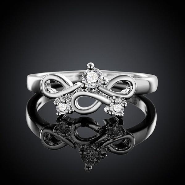925 Dame Produkt Mode Dame Hochzeit Charme versilbert Schmuck Frauen elegantes Design ziemlich schön Ringe Neupreis R656