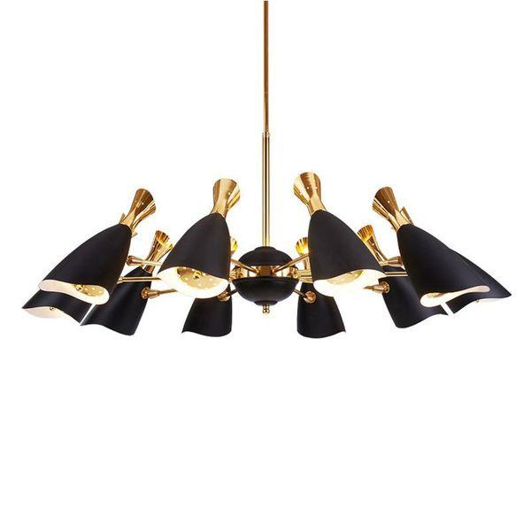 6/8/10/12 Heads Pendant Lights Nordic AC 90-260V Metal Pendant Lamp Postmodernism Simple Originality Bedrooms Hanglamp