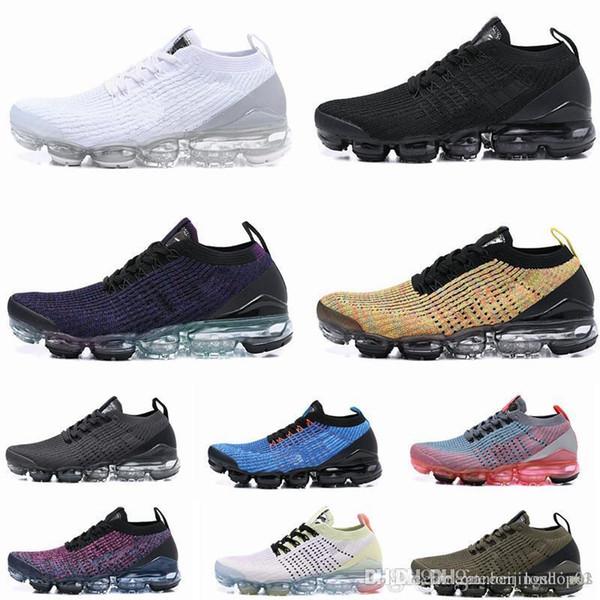 nike air max Off white Flyknit Utility vapormax Plus VM Zapatos para correr Zapatos de correr al aire libre Zapatillas deportivas Hombres requin Plata plateada En metálico