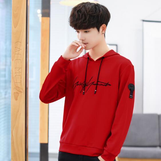 Sonbahar yeni ürün kişilik baskı, erkek giyim, erkek giyim, Kore versiyonu, joker, erkek uzun kollu trend kazak.