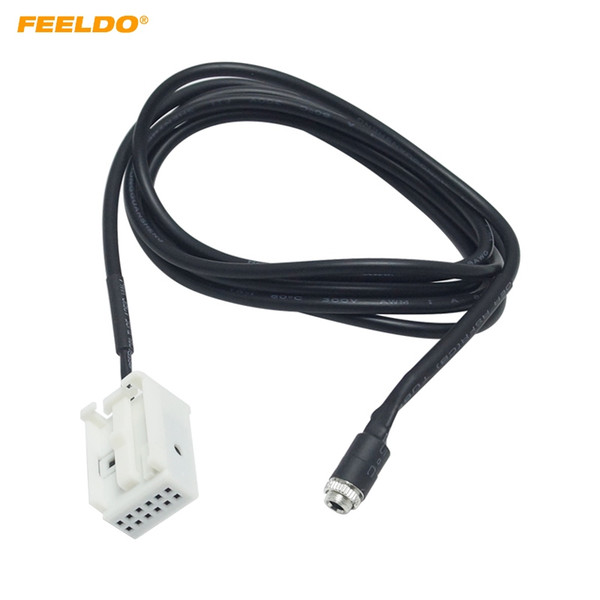 FEELDO Car 12pin Femmina Cavo Interfaccia AUX Ingresso Audio Cavo Per Peugeot 307/308/407/408/507 Citroen Triumph Sega C2 / C5 / RD4 # 5799