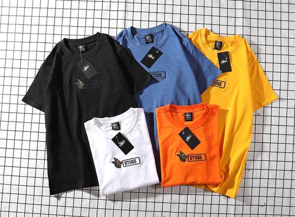 19SS neue Männer T-Shirt Trend Marke T-Shirts Schmetterling Brief Stickerei T-Shirt aus hochwertiger Baumwolle meistverkauften T-Shirts Frauen Casual Street Top