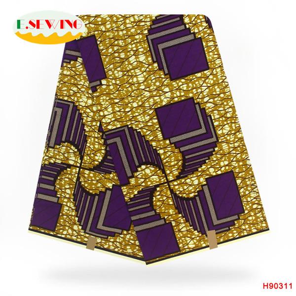 African wax fabric 6 yards wax prints fabric 100% cotton,Most popular women handbag and prints
