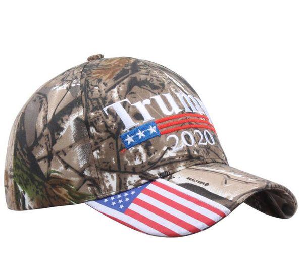 Kamuflaj Donald Trump şapka ABD Bayrağı beyzbol şapkası Amerika tutmak Büyük 2020 Şapka 3D Nakış Yıldız Mektup Camo ayarlanabilir Snapback