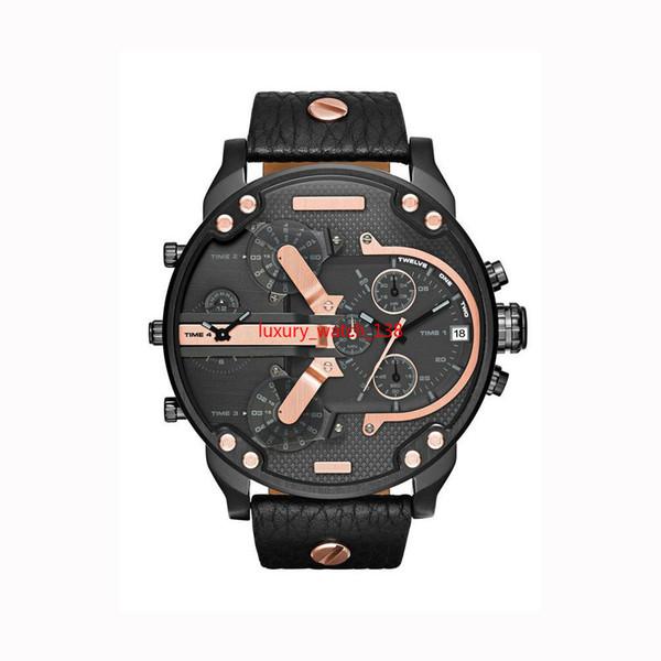 2019 Venta caliente Reloj Big Dail 50 MM Relojes para hombre Relojes de pulsera de cuarzo para hombres de negocios de estilo brasileño americano
