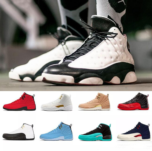2019 Hot High quality 12 Gym Red 12s designer shoes basketball shoes Black Blue Michigan WINGS bulls Flu Game zapatos Sports trainer sneaker