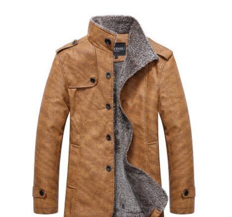 Fashion-2019 HOT!!!Winter warm motorcycle Leather jacket Men s Casual Brand Jacket luxury fur sheep leather men s Fur coat Free shipping 1