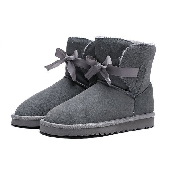2020 Designer WGG Womens Australia Classic Kneel Snow boots Black Grey chestnut Women Winter boot Size L13